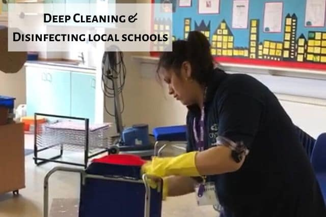 deep cleaning & disinfecting local schools 1